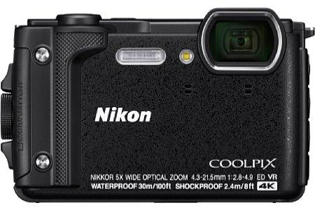 Nikon Coolpix W300 in Schwarz. [Foto: Nikon]