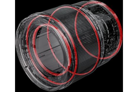 Bild Das Panasonic Lumix S 85 mm F1.8 besitzt Dichtungen gegen das Eindringen von Staub und Spritzwasser. Auch Frost bis -10 °C soll kein Problem sein. [Foto: Panasonic]