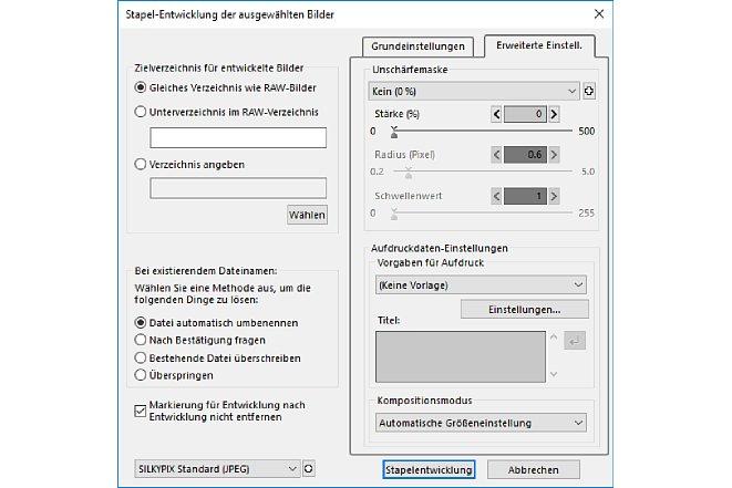 Bild Mit der umfangreichen Stapelverarbeitung kann die Software automatisiert große Mengen von Bildern nach spezifizierten Voreinstellungen entwickeln. [Foto: MediaNord]