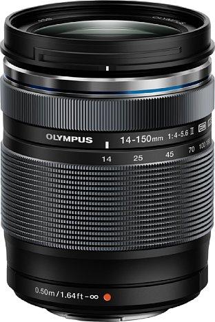 Bild Das Olympus M.Zuiko Digital ED 14-150 mm 1:4-5.6 II bietet zum Preis des Vorgängermodells ein neues Design, Spritzwasserschutz, ZERO-Vergütung sowie eine Streulichtblende im Lieferumfang. [Foto: Olympus]