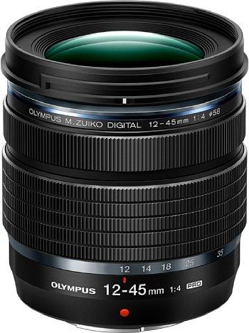 Bild Das Olympus M.Zuiko Digital ED 12-45 mm F4 Pro zoomt im Kleinbildäquivalent von 24-90 mm und ist dabei erstaunlich kompakt und dennoch robust mit Spritzwasser-, Staub- und Frostschutz. [Foto: Olympus]