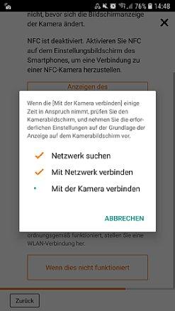 Bild Die App führtmit Statusfenstern und Hinweisendurch den Kopplungsprozess. [Foto: Medianord]