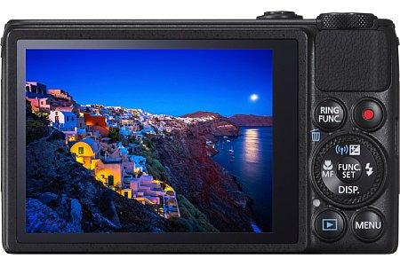 Bild Der drei Zoll große Touchscreen Canon PowerShot S120 löst nun doppelt so hoch auf wie noch in der S110. [Foto: Canon]