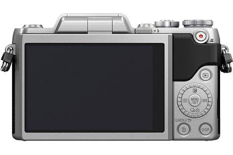Bild Der rückwärtige Drei-Zoll-Touchscreen der Panasonic Lumix DMC-GF7 löst über eine Million Bildpunkte auf. Dank Touchfunktion lässt sich nicht nur punktgenau auf ein Motivdetail fokussieren, sondern auf Wunsch auch auslösen. [Foto: Panasonic]