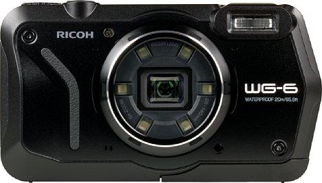 Bild Rund um das Objektiv der Ricoh WG-6 sind sechs in der Helligkeit steuerbare LED-Lichter angebracht, mit denen sich Makromotive sehr differenziert und hell beleuchten lassen. Außerdem besitzt sie ein 46mm-Filtergewinde. [Foto: MediaNord]