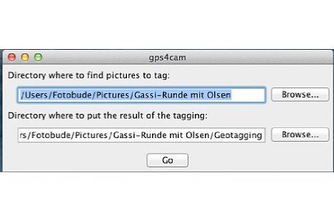 Bild Nun wird die Software auf dem Rechner – Win oder OSX – aufgerufen. Start- und Zielordner werden anschließend gewählt und der Vorgang gestartet. [Foto: Ralf Spoerer]