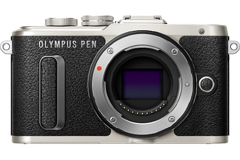 """Bild Die Olympus Pen E-PL8 besitzt einen 16 Megapixel auflösenden 4/3""""-Sensor (Micro Four Thirds), der zur Bildstabilisierung beweglich gelagert ist. [Foto: Olympus]"""
