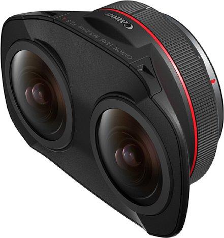 Bild Das Canon RF 5,2 mm F2.8 L Dual Fisheye ist zwei Objektive in einem, was 3D-VR-Aufnahmen mit 180 Grad Bildwinkel erlaubt. [Foto: Canon]