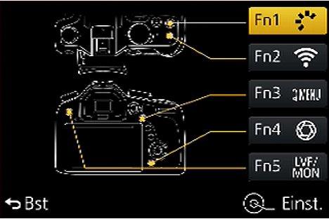 Bild Fn-Tasteneinstellung der Panasonic Lumix DMC-FZ1000. [Foto: MediaNord]