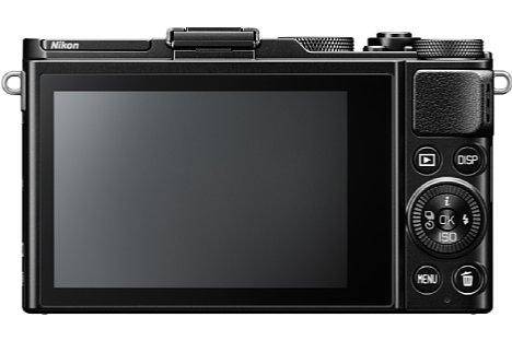 Bild 1,037 Millionen Bildpunkte löst der rückwärtige OLED-Touchscreen der Nikon DL24-85 f/1.8-2.8 auf. [Foto: Nikon]