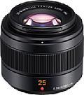 Mit 205 Gramm ist das Panasonic Leica DG Summilux 25 mm F1.4 II Asph. (H-XA025) sehr leicht und mit Abmessungen von 6,3 mal 5,4 Zentimeter (Durchmesser mal Länge) auch angenehm kompakt. [Foto: Panasonic]