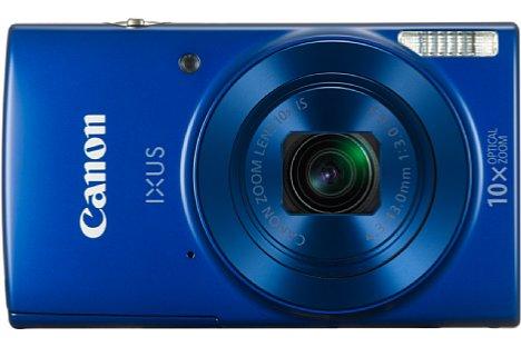 Bild ... in Blau im Januar 2016 in den handel kommen. 160 Euro gibt Canon als Preisempfehlung für die Ixus 180 an. [Foto: Canon]