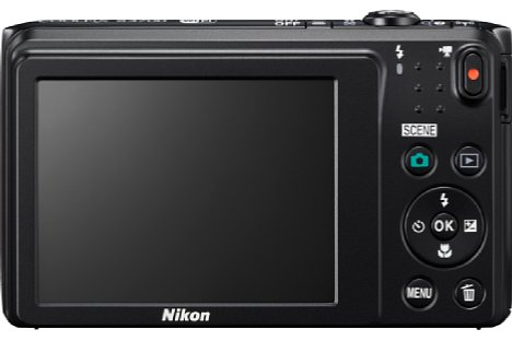 Bild Auf der Rückseite bietet die Nikon Coolpix S3700 einen 6,7 Zentimeter großen Bildschirm mit 230.000 Bildpunkten Auflösung. [Foto: Nikon]