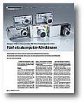 Test von 5 Ultrakompaktkameras in der DigitalPhoto Ausgabe 03/2005