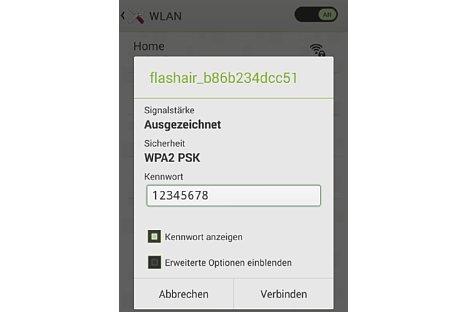 Bild Das Defaultpasswort der Toshiba FlashAir WLAN-SD-Karte ist nicht sicher und sollte als erstes geändert werden. [Foto: MediaNord]