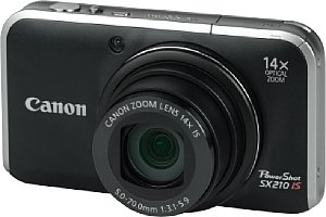 Canon PowerShot SX210 IS Schwarz [Foto: MediaNord]