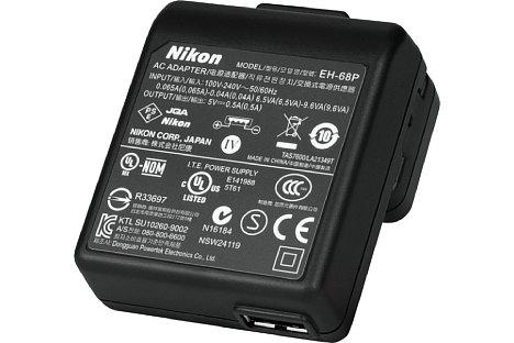 Bild Das Nikon EH-68P USB-Ladegerät lädt zwar den Akku in der Kamera auf, kann aber aufgrund der geringen Leistung nicht für eine Dauerstromversorgung eingesetzt werden. [Foto: MediaNord]