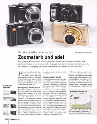 DigitalPhoto 08/2010 Ultrakompaktkameras im Test [Foto: DigitalPhoto]