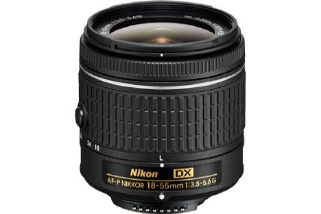 Bild Das Nikon AF-P 18-55 mm 3.5-5.6G DX muss ohne Bildstabilisator auskommen, ist dafür aber 10 Gramm leichter und kostet einzeln nur knapp 200 Euro. [Foto: Nikon]