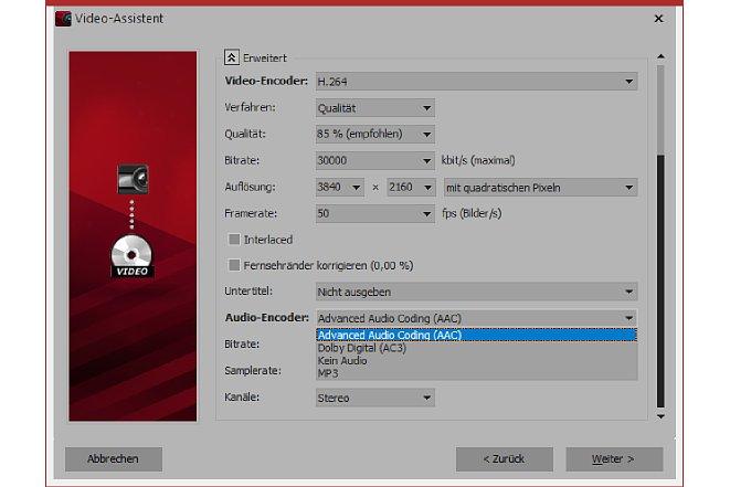 Bild Die Wahl des richtigen Audioencoders entscheidet mit über die Größe der Videodatei, wenn auch nur geringfügig. [Foto: MediaNord]