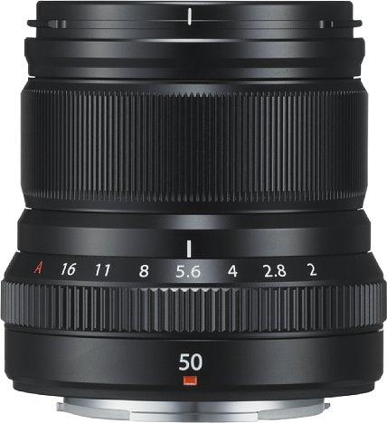 Bild Dank des Blendenrings lässt sich die Öffnung des Fujifilm XF 50 mm F2 R WR ist satten 1/3-Stufen-Rastungen einstellen. Der Fokusring ist sehr breit und griffig. [Foto: Fujifilm]
