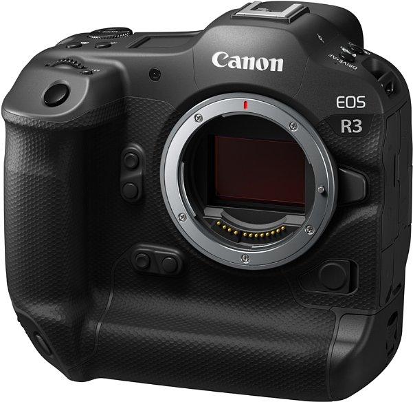 Bild Der 24 Megapixel auflösende Bildsensor der EOS R3 wurde von Canon selbst entwickelt. Es handelt sich um einen schnellen Stacked BSI CMOS mit 24 Megapixeln Auflösung. [Foto: Canon]