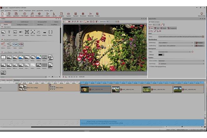 """Bild Das """"Bildband""""-Objekt erzeugt eine horizontal scrollende Animation aller eingefügten Objekte. [Foto: MediaNord]"""