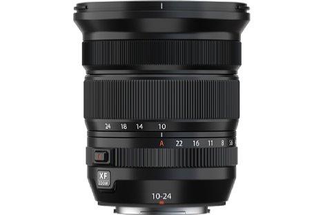 Bild Im Gegensatz zum Vorgänger besitzt das XF 10-24 mm F4 R OIS WR eine Blendenskala und einen Feststellknopf für den Automatikmodus. [Foto: Fujifilm]
