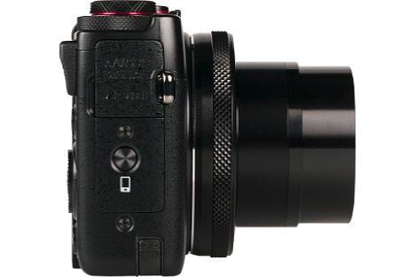 Bild Eine Direkttaste für die Verbindung zum Smartphone beschleunigt die Verbindung zwischen Canon PowerShot G7 X und Mobilgerät. [Foto: MediaNord]