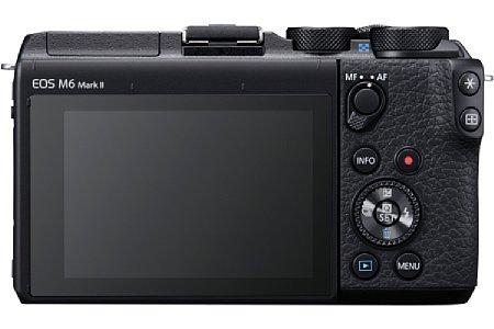 Bild Die Canon EOS M6 Mark II besitzt nuneinen AF-MF-Fokuswähler mit zentraler AF-Taste in Daumenreichweite auf der Kamerarückseite. [Foto: CANON .Inc]