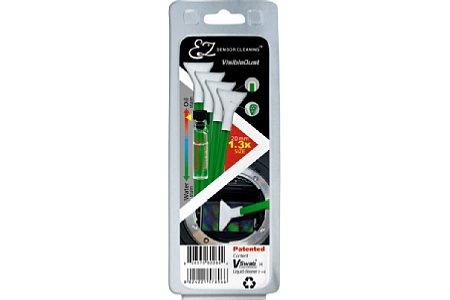 VisibleDust Mini-Nass-Kit für Sensorgröße 1,3 mit Reinigungslösung Smear Away [Foto: VisibleDust]