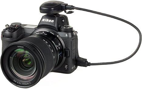 Bild Nikon Z7 mit GP-1A GPS-Empfänger. [Foto: MediaNord]