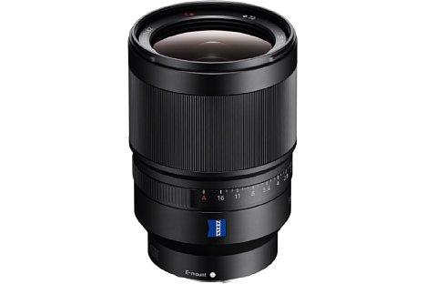Bild Das Sony FE 35 mm F1,4 Distagon T* ZA (SEL-35F14Z) ist das bisher lichtstärkste Vollformat-Objektiv im FE-Lineup. Es soll die bei einem 35 mm bestmögliche Bildqualität bieten. [Foto: Sony]
