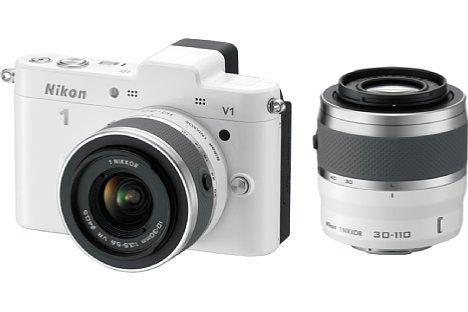 Bild Nikon 1 V1 Kit bestehend aus: 1 Nikkor 10-30 mm und 30-110 mm [Foto: Nikon]