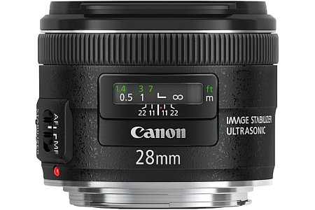 Canon EF 28 mm f2.8 IS USM [Foto: Canon]