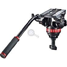Manfrotto MVH502A Pro Fluid Video-Neiger mit 75 mm Halbkugel und 504PL