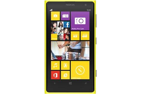 Bild Nokia Lumia 1020 in Gelb mit passendem Design der Bedienoberfläche [Foto: Nokia]