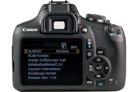 Bild Der Monitor der EOS 2000D ist unbeweglich und besitzt keine Touchfunktion. [Foto: MediaNord]