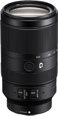 """Bild Das """"G"""" im Namen des Sony E 70-350 mm 4.5-6.3 G OSS (SEL70350G) soll die Zugehörigkeit zur optisch hochwertigen Objektivklasse verdeutlichen. Aus Gewichts- und Größengründen ist die Lichtstärke hingegen weniger gut. [Foto: Sony]"""