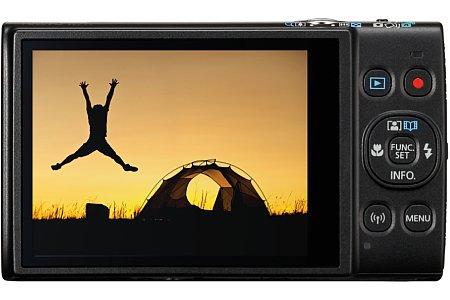 Bild 7,5 Zentimeter misst der Bildschirm der Canon Ixus 285 HS in der diagonale und bringt dabei 461.000 Bildpunkte unter. [Foto: Canon]