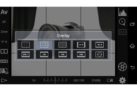Bild Bei den Overlay-Funktionen lässt sich auch eine Wasserwaage hinzublenden. [Foto: MediaNord]