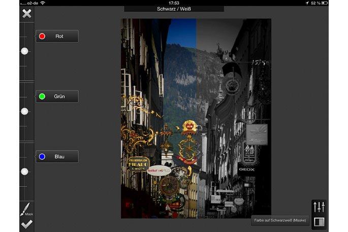Bild Soll das Foto in Schwarz/Weiß umgewandelt werden, kannst du die einzelnen Farben individuell filtern. [Foto: Ralf Spoerer]