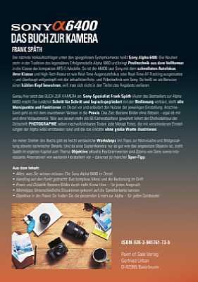 Sony Alpha 6400 - Das Buch zur Kamera. [Foto: Point of Sale]