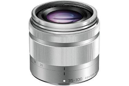 Bild Je nach persönlichem Geschmack ist das Panasonic Lumix G Vario 35-100 mm 4-5.6 Asph. O.I.S. auch in Silber erhältlich, wobei die Anmutung des schwarzen Pendants auf uns einen etwas höherwertigen Eindruck machte. [Foto: Panasonic]