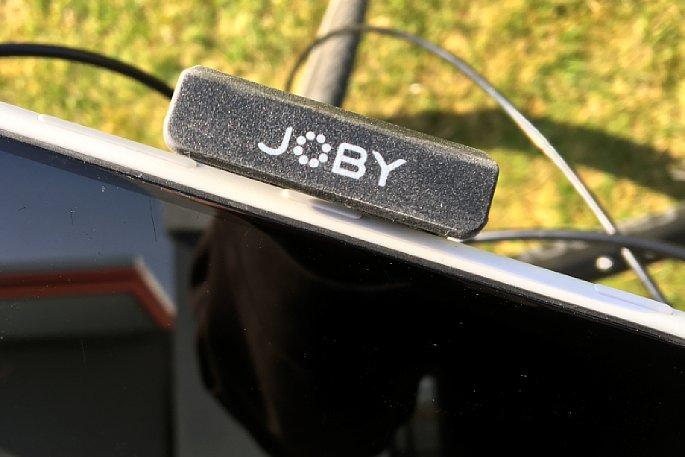 Bild Selbst sehr große Smartphones (Phablets) mit maximal 90 mm Breite passen in dieJoby GripTight Bike Mount PRO Lenkerhalterung. Allerdings muss seitlich ein 45 mm breiter Bereich ohne Tasten vorhanden sein. Das ist hier nicht der Fall. [Foto: MediaNord]