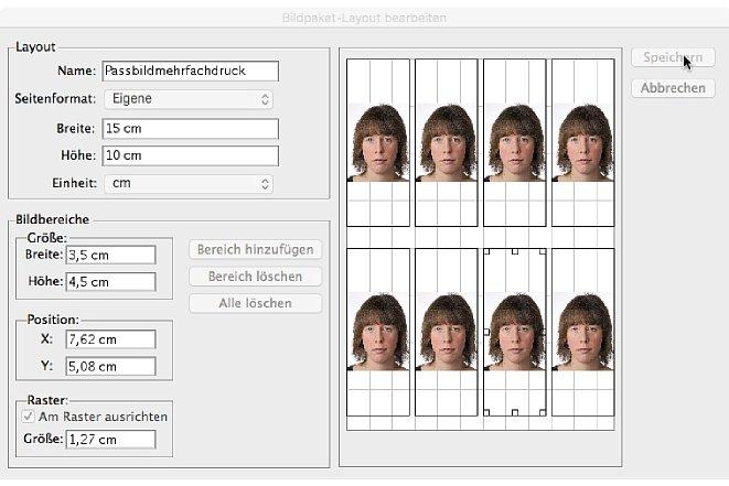 Bild Im Bilderpaket können Sie die Druckgröße der Bilder selber und des Druckformates bestimmen. [Foto: Markt+Technik]