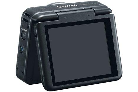 Bild Das Touch-Display der Canon PowerShot N2 lässt sich um 180 Grad nach oben klappen und eignet sich damit hervorragend für Selfie-Aufnahmen. [Foto: Canon]