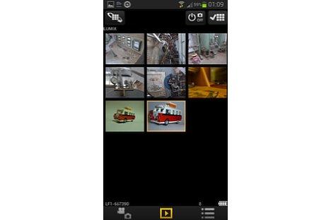 Bild In der Übersicht zeigt die Panasonic Image App die auf der verbundenen Kamera gespeicherten Fotos an. [Foto: MediaNord]