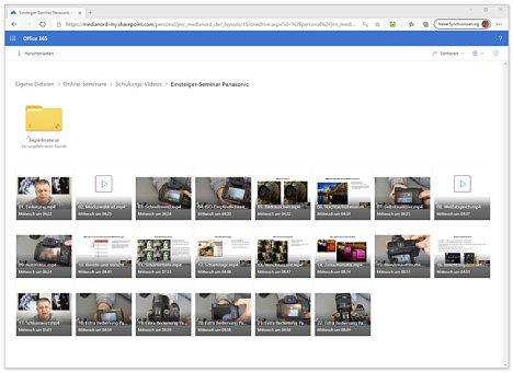 Bild Das Panasonic-Einsteigerseminar besteht aus 22 Einzelvideos und einem Ordner mit Begleitmaterial. [Foto: MediaNord]