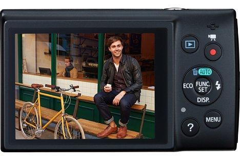 Bild Die Canon Digital Ixus 155 arbeitet mit einem 20-Megapixel-CCD-Sensor. [Foto: Canon]